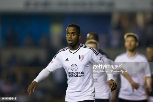 Fulham's Ryan Sessegnon during the Sky Bet Championship match between Millwall and Fulham at The Den on April 20 2018 in London England