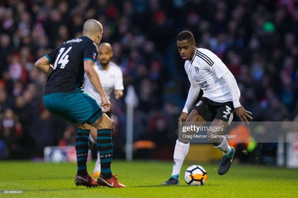 Fulham's Ryan Sessegnon in action during the Emirates FA Cup Third Round match between Fulham and Southampton at Craven Cottage on January 6, 2018 in London, England.