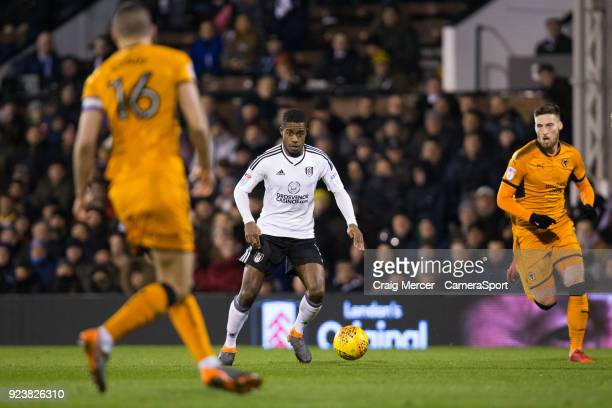 Fulham's Ryan Sessegnon in action during the Sky Bet Championship match between Fulham and Wolverhampton Wanderers at Craven Cottage on February 24...