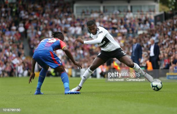 Fulham's Ryan Sessegnon takes on Crystal Palace's Aaron WanBissaka during the Premier League match between Fulham FC and Crystal Palace at Craven...