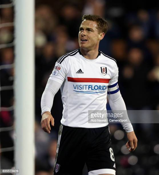 Fulham's Scott Parker during the Sky Bet Championship match between Fulham and Nottingham Forest at Craven Cottage on February 14 2017 in London...
