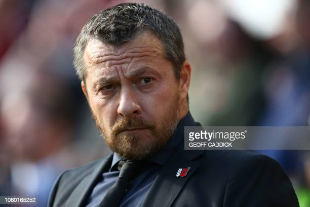 Fulham's Serbian manager Slavisa Jokanovic arrives for the English Premier League football match between Liverpool and Fulham at Anfield in Liverpool...