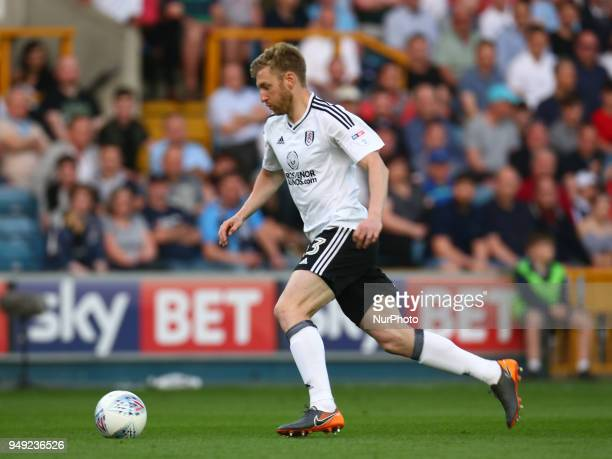 Fulham's Tim Ream during Championship match between Millwall against Fulham at The Den stadium London England on 20 April 2018