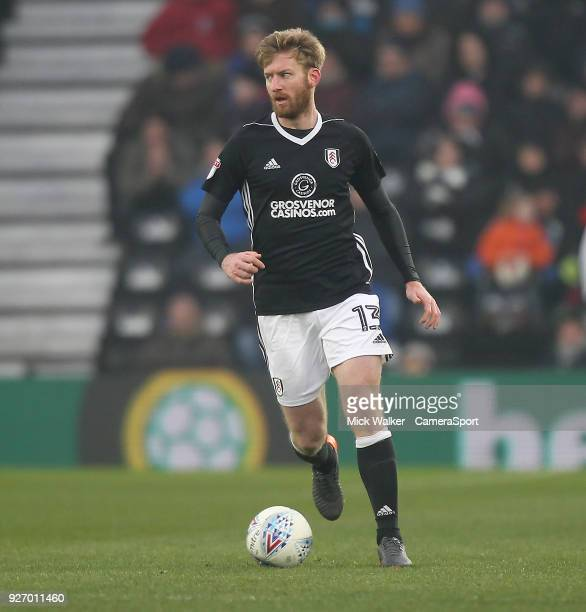 Fulham's Tim Ream during the Sky Bet Championship match between Derby County and Fulham at iPro Stadium on March 3 2018 in Derby England