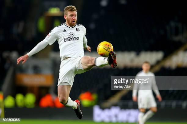 Fulham's Tim Ream during the Sky Bet Championship match between Hull City and Fulham at KCOM Stadium on December 30 2017 in Hull England