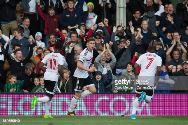 Fulham's Tom Cairney celebrates scoring his sides equalising goal to make the score 11 during the Sky Bet Championship match between Fulham and...