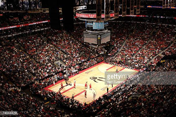 A full arena for the New Jersey Nets against the Toronto Raptors in Game Five of the Eastern Conference Quarterfinals during the 2007 NBA Playoffs on...
