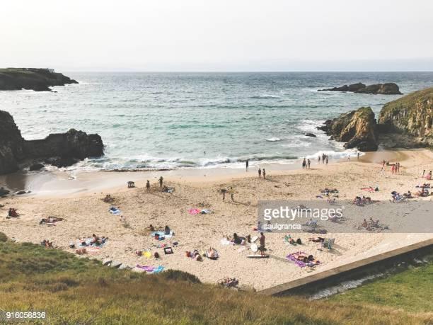 Full beach on summer