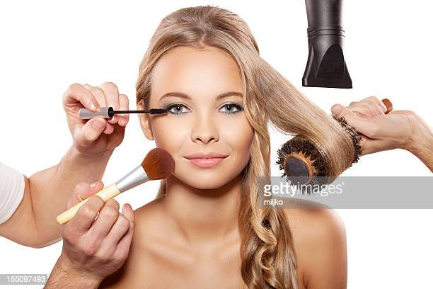full beauty treatment - beauty care occupation stock photos and pictures