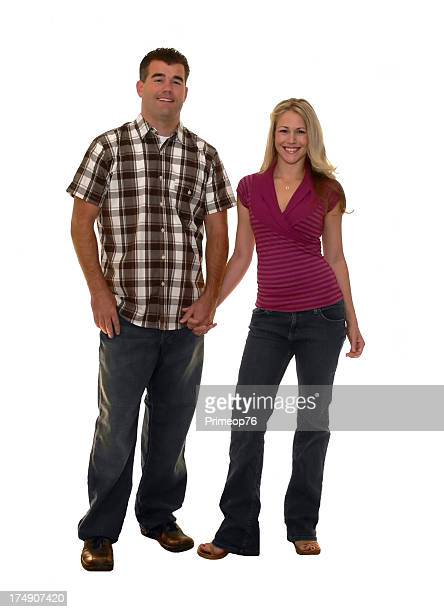 full body couple 2 - tall blonde women stock photos and pictures