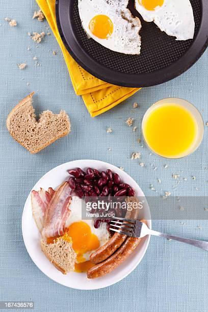 Full Breakfast on Table