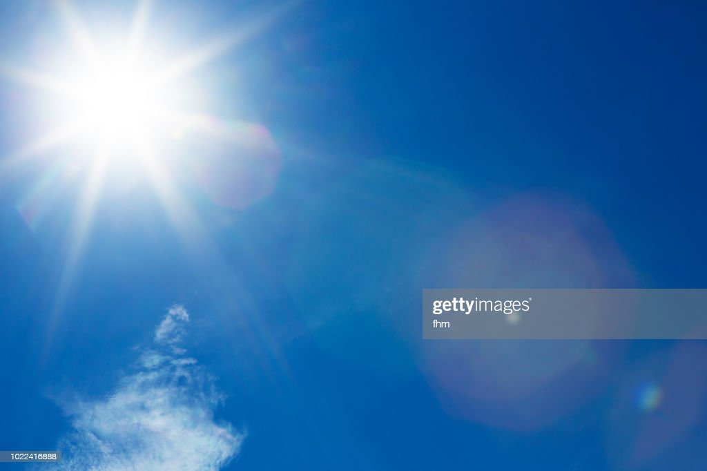 Full bright sun in the sky : Stock-Foto