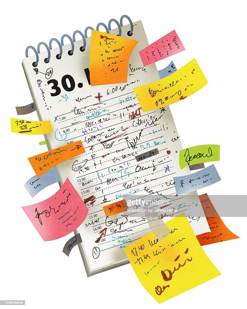 Full calendar : Stock Photo