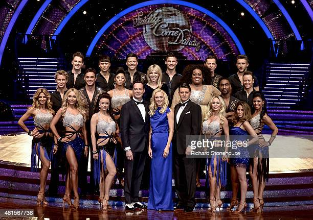Full cast attend a photocall to launch the Strictly Come Dancing Live Tour 2015 at Birmingham Barclaycard Arena on January 15, 2015 in Birmingham,...
