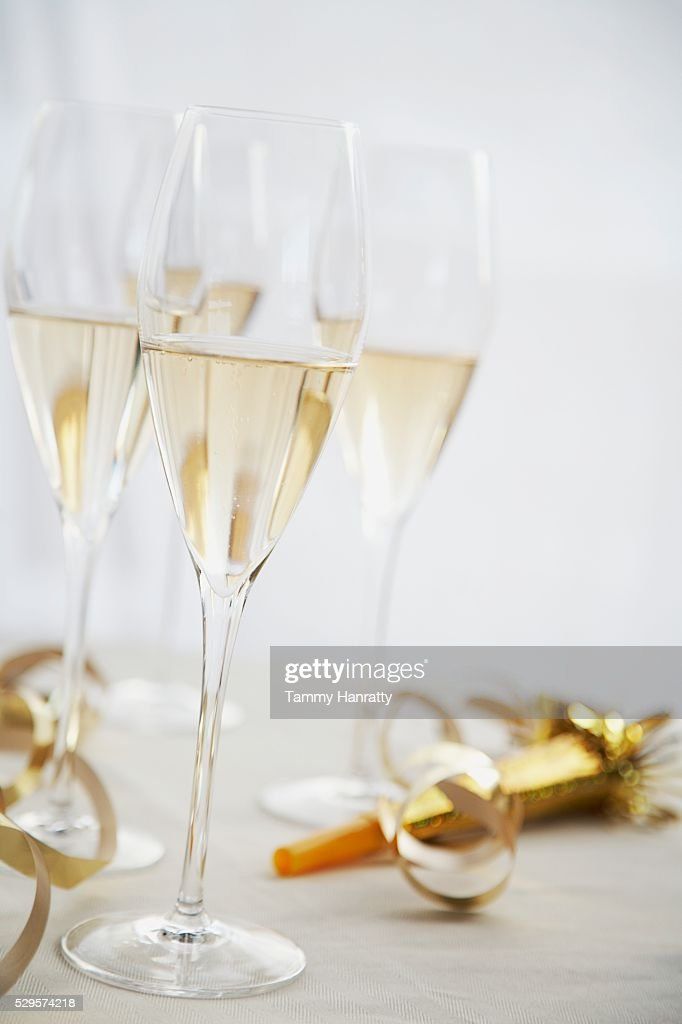 Full Champagne Glasses : Foto de stock