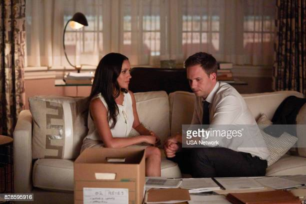 SUITS Full Disclosure Episode 707 Pictured Meghan Markle as Rachel Zane Patrick J Adams as Michael Ross