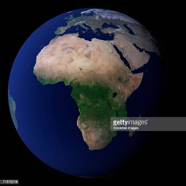 'Full Earth showing Africa, Europe, &  Middle East.'