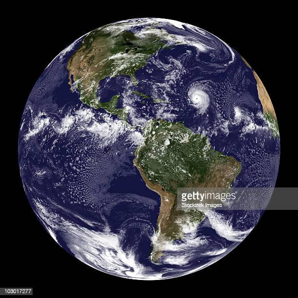 Full Earth showing North America and South America.