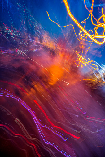 Full frame abstract image of vibrant light trails - gettyimageskorea