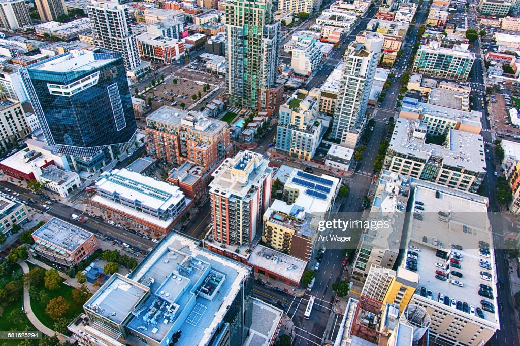 Full Frame Aerial View Of Downtown San Diego Stock Photo | Getty Images