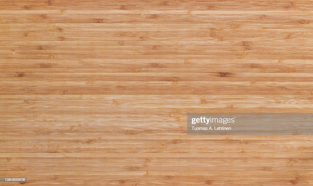 Full frame background of natural unpainted bamboo wood board : Stock Photo