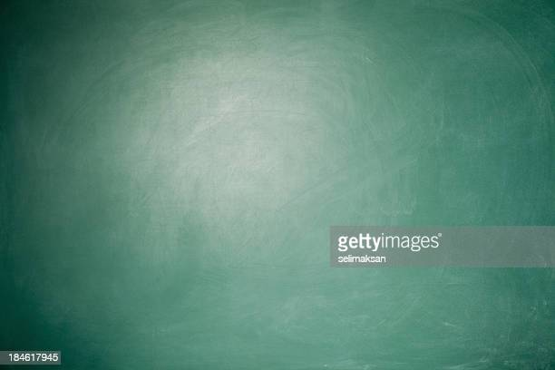 full frame blank green blackboard background with vignette around - blackboard stock photos and pictures