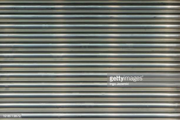 Full Frame Close-Up of Corrugated Garage Door