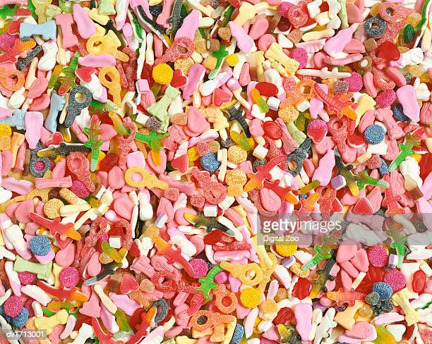 Full Frame Close-Up of Pick and Mix Candy