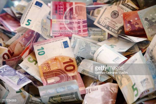 Full Frame Image Of European Union Currency
