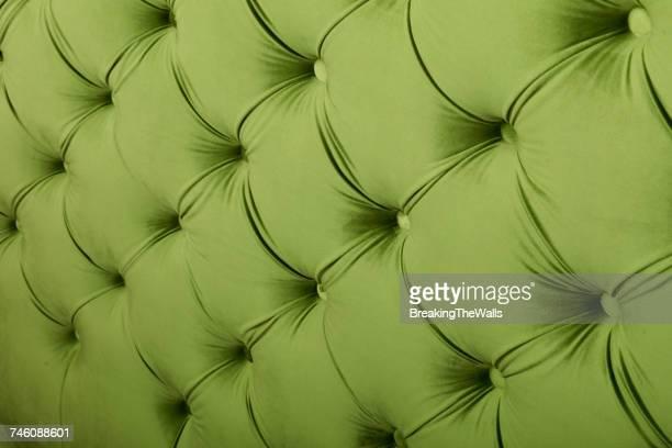 Full Frame Image Of Green Chesterfield Sofa