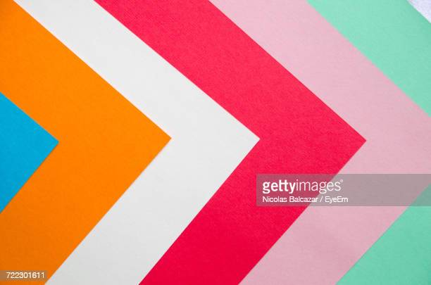 full frame image of multi colored papers - abstract pattern stock-fotos und bilder