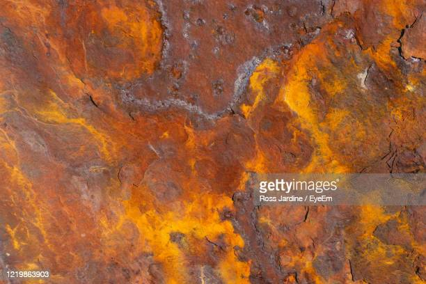 full frame image of rust on metal texture - batemans bay stock pictures, royalty-free photos & images