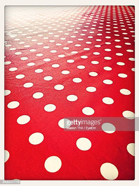 full frame image of tablecloth - polka dot stock pictures, royalty-free photos & images