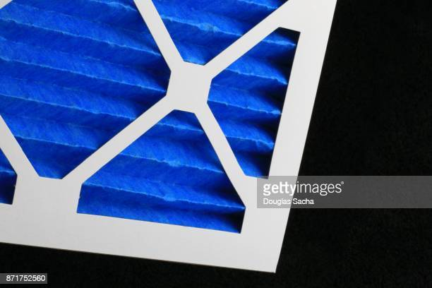 Full frame of a blue colored clean Air Filter