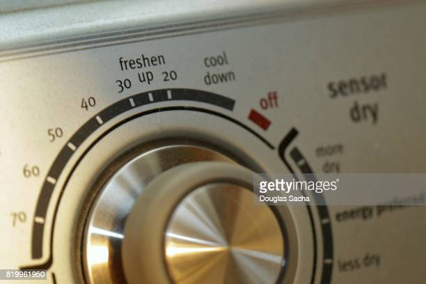 Full frame of a control dial on a Cloths washer