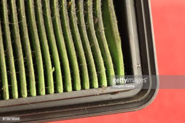 Full frame of a Dirty Air Filter from a Combustible Engine