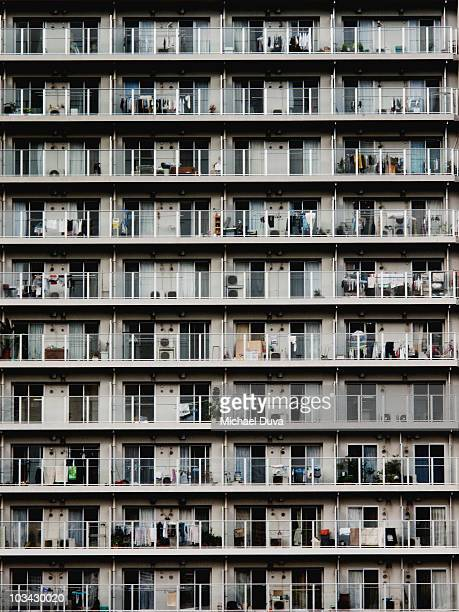 full frame of a tokyo apartment building