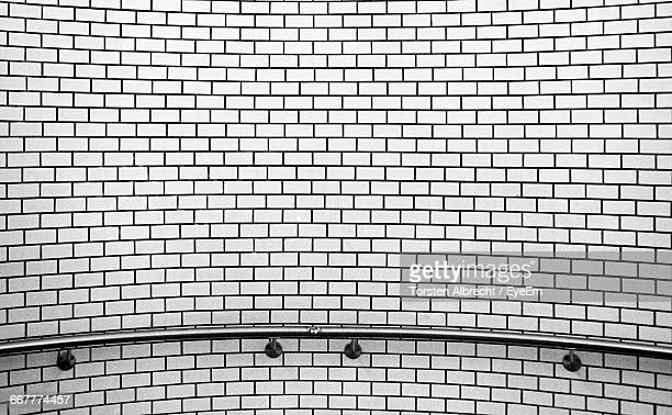 Full Frame Of Brick Wall With Railing
