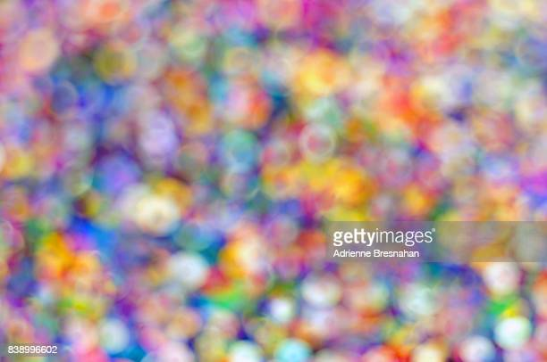 Full Frame of Colorful Bokeh Bubbles