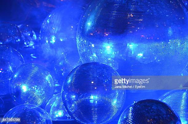 Full Frame Of Disco Balls