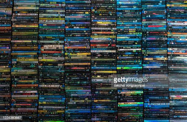 full frame of dvds - collection stock pictures, royalty-free photos & images