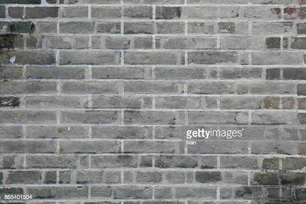 Full Frame of gray brick wall