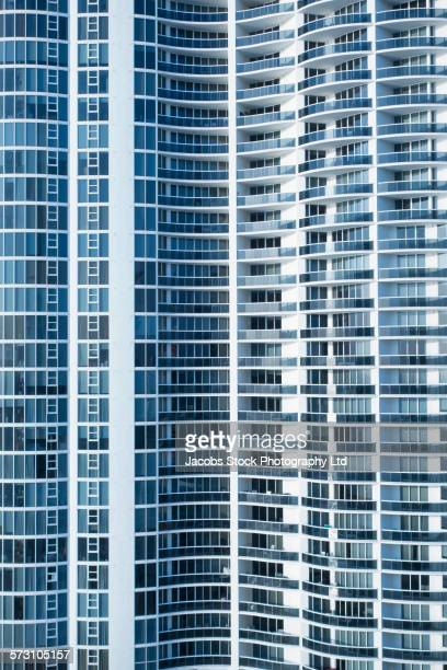 Full frame of high rise building