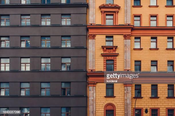 full frame of historic lubyanka building - sede da kgb imagens e fotografias de stock