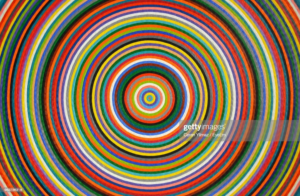 Full Frame Of Multi Colored Concentric Pattern : Foto stock