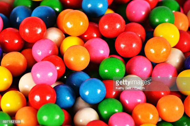 Full Frame Of Multi-Colored Gumballs