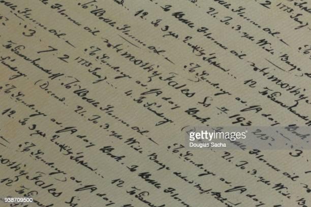 Full frame of ornate script text