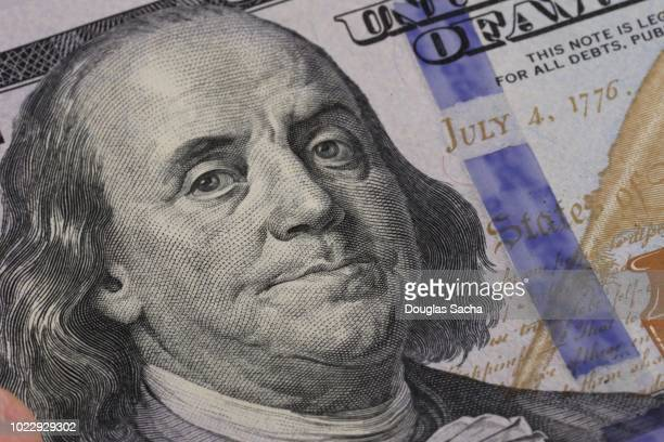 full frame of paper money - american one hundred dollar bill stock pictures, royalty-free photos & images