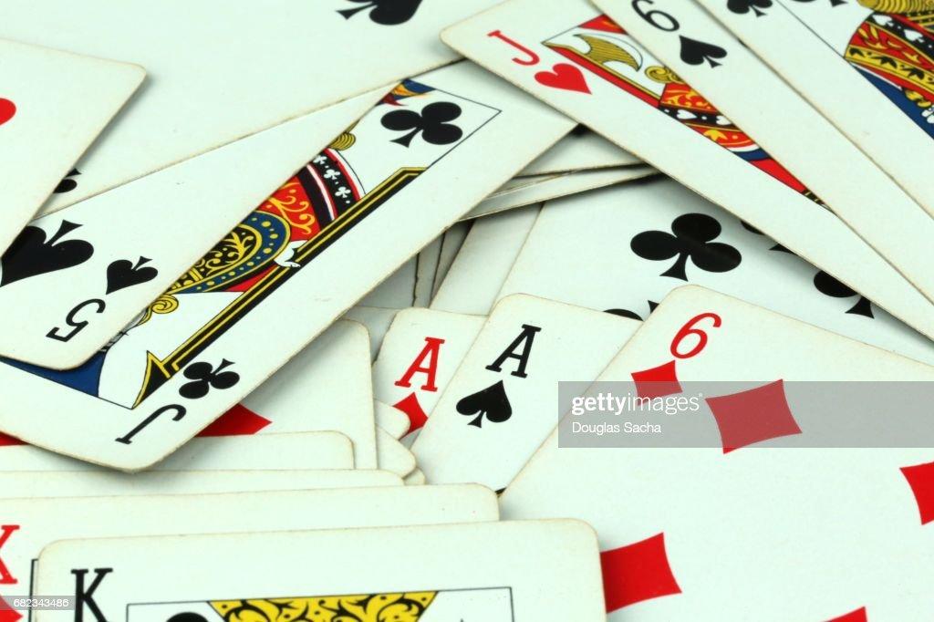 Full frame of Poker Gambling Cards : Stock Photo