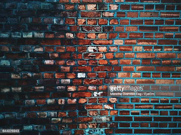Full Frame Of Red Brick Wall